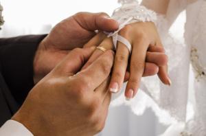 Dress wedding ring